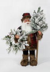 DUE ESSE Svítící skotský Santa 60 cm