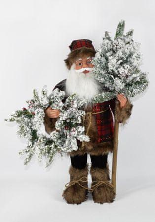 DUE ESSE Svietiaci škótsky Santa 60 cm