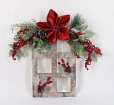 DUE ESSE Božićni cvjetni ukras 40 x 40 cm, svijetli okvir
