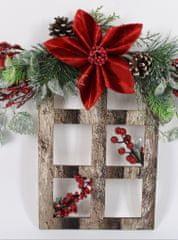 DUE ESSE Božićni cvjetni ukras 40 x 40 cm, tamni okvir