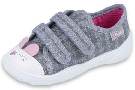 Befado dievčenské papučky s ňufáčikom 907P108 21 sivá