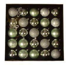 EverGreen Set kuglica x 25 kom, LUX, razne, promjer 6cm 8