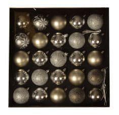 EverGreen Golyók gyűjteménye 25 darab, LUX, különféle, 6 cm átmérőjű 10