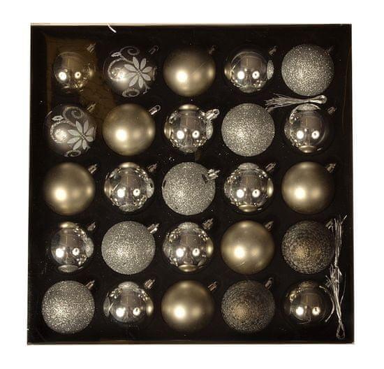 EverGreen Kolekcia gúľ x 25 ks, LUX, rôzne, priemer 6cm 10