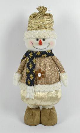 DUE ESSE okrasek sedečega snežaka s klobukom, 49 cm