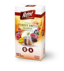 René Fruit erdei gyümölcs Nespresso kávéfőzőbe alkalmas tea kapszulák, 10 db