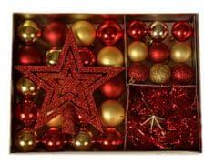 EverGreen Kolekcia gúľ 33-dielna + špička + 2 x hviezda + reťaz 2 m, LUX set