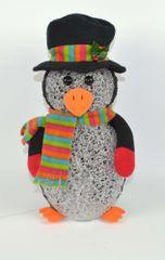 DUE ESSE Svietiaci akrylový tučniak 34 cm