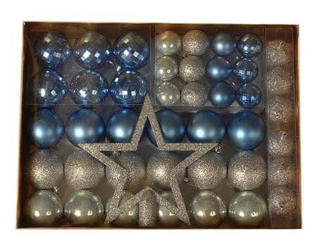 EverGreen 36 darabos gömb készlet + csúcsdísz + 6 toboz, LUX készlet 2