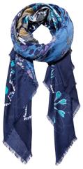 Desigual Šatka Foul Flower Patch Medieval Blue 19WAWA45 5074