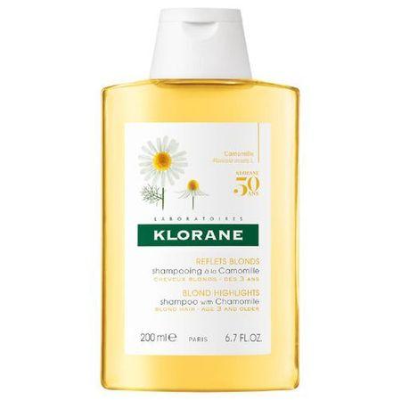Klorane Sampon szőke hajra kamilla(Blond Highlights Shampoo Wiht Chamomile) (mennyiség 200 ml)