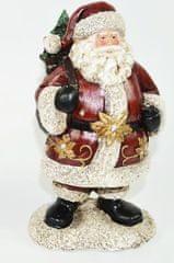 DUE ESSE Djed Božičnjak s vrećom darova, ukras, 21 cm
