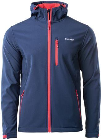Hi-Tec Caen Navy/Orange Red moška softshell jakna, L