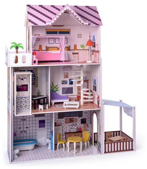 """Woody Růžový domeček s výtahem """"Malibu"""""""