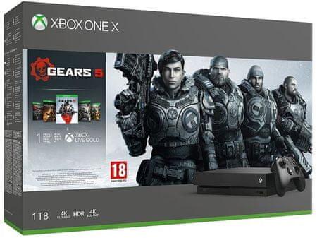 Microsoft Xbox One X 1TB igralna konzola + igra Gears 5 Standard Edition