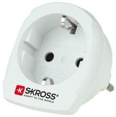 Skross cestovný adaptér pre použitie v Taliansku, biely