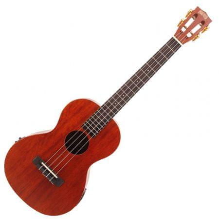 Mahalo  Electric-Acoustic Baritone Ukulele Trans Brown