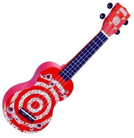 Mahalo  Soprano Ukulele Target Red