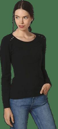 William de Faye dámsky sveter WF508 S čierna
