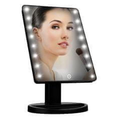 Bezdoteku BEZDOTEKU Kosmetické make-up zrcátko s led osvětlením černé