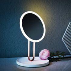 Bezdoteku BEZDOTEKU LED kosmetické makeup zrcátko BALET nabíjecí růžové