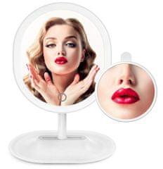 Bezdoteku BEZDOTEKU Kosmetické make-up nabíjecí zrcátko s 16x led osvětlením bílé
