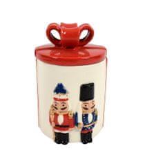 DUE ESSE Škatla za božično dekoracijo s pokrovom 18 cm, hrestač