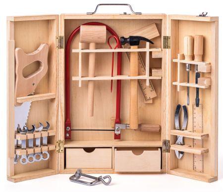 Woody Metalowe narzędzia w drewnianym pudełku - duże