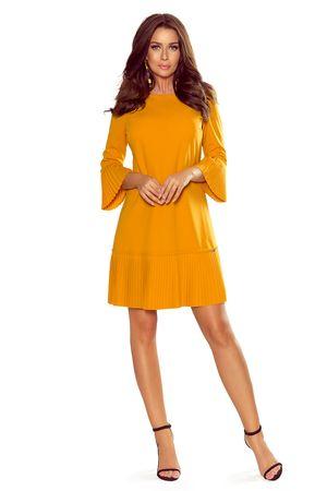 Numoco Dámske šaty 228-7, žlto-oranžová, XL
