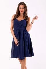 Stylomat Elegantní šaty na ramínka tmavě modré