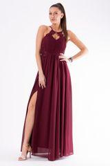 Stylomat Romantické večerní šaty vínové