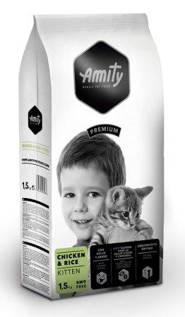 Amity hrana za mačke Premium cat KITTEN Chicken & Rice, 1,5 kg