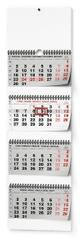 Kalendář nástěnný Čtyřměsíční skládaný A3 - s mezinárodními svátky