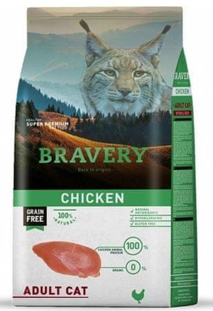 Bravery hrana za mačke Cat ADULT Grain Free chicken, 7 kg