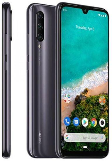 GSM telefon Mi A3, siv