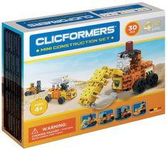 CLICFORMERS Mini gradbeni avtomobili, komplet za sestavljanje