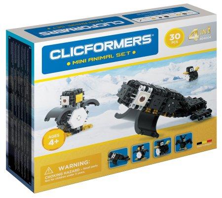 CLICFORMERS Mini živali, komplet za sestavljanje