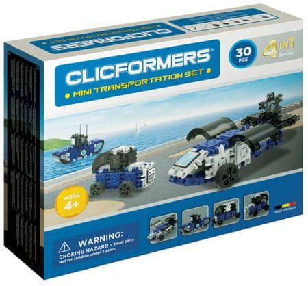 CLICFORMERS Mini prevozna sredstva, komplet za sestavljanje