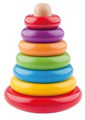 Woody Skládací pyramida barevná - káča
