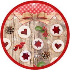 Toro papirnati krožniki z božično dekoracijo, 6 kosov