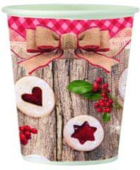 Toro papirnate skodelice z božično dekoracijo, 6 kosov