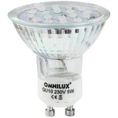 Omnilux 230V GU-10 18 LED , modrá