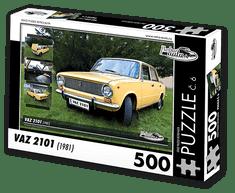 RETRO-AUTA© Puzzle č. 06 - VAZ 2101 (1981) 500 dílků