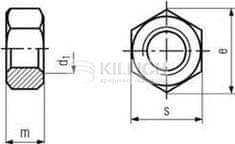 Killich matice M36x3.0 BEZ PÚ /10/ přesná šestihranná DIN 934