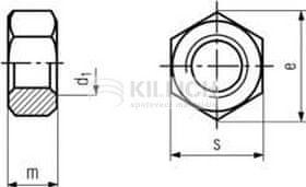 Killich matice M5 ZINEK /10/ přesná šestihranná DIN 934