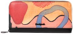 Desigual Mone Arty Oil Zip Around Wallet Medieval Blue 19 WAYP23 5074