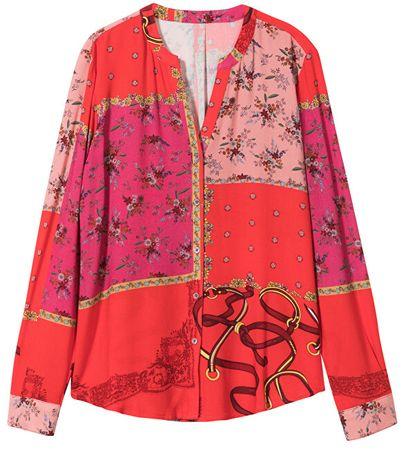 Desigual Dámska košeľa Cam Crimea Rojo 19WWCW48 3092 (Veľkosť L)