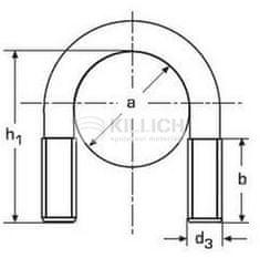 Killich třmen (šroub) tvar U M6 12-17 BÍLÝ ZINEK