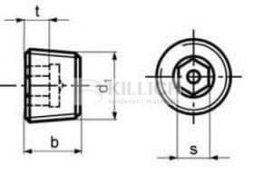 Killich zátka R1/2 BEZ PÚ 5.8 vypouštěcí DIN 906
