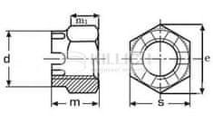 Killich matice M24 ZINEK /8/ korunková vysoká DIN 935